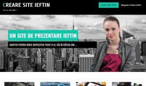 Creare site de prezentare ieftin